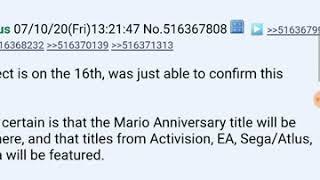 Nintendo direct leak many games from EA Sega atlas Bethesda  Activision and Mario anniversary