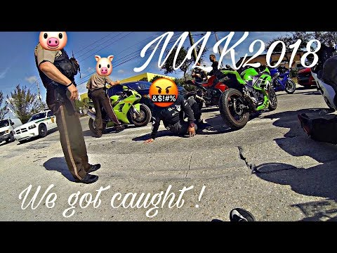 Cops impound motorcycles ! MLK Rideout 2018 pt2