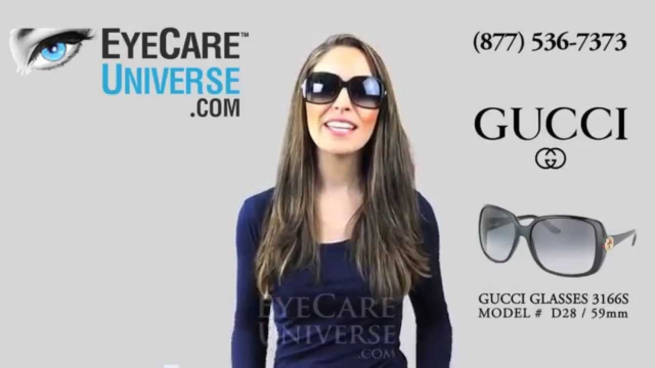 aeddf03d56 Womans Gucci Sunglasses GG 3166s D28 Review - YouTube