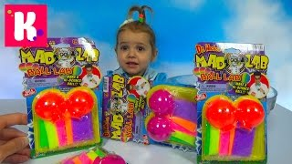 Мэд леб шары попрыгунчики набор делать цветные шары Mad Lab ball unboxing set