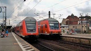 Frankfurt (M.) Süd mit ICEs, IC, Regionalzüge (BR 114, 143, 146, 442), S-Bahn Rhein-Main und mehr