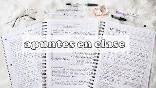 APUNTES EN CLASE RÁPIDOS Y ORGANIZADOS   apuntes