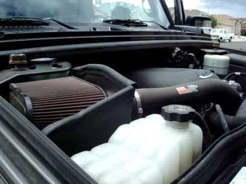 HUMMER H2 SUT W/ K N COLD AIR INTAKE - YouTube