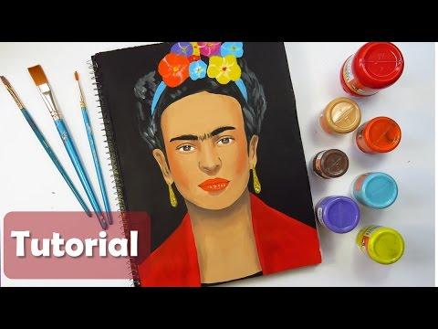 Decora Tu Cuaderno Con Frida Kahlo Fácil Pintura Acrílica De