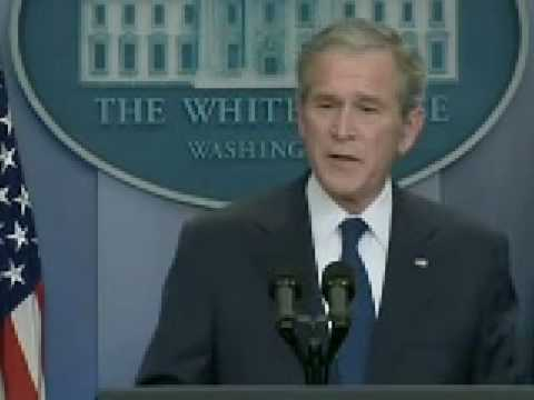 Bush Says Final Goodbye To The Media