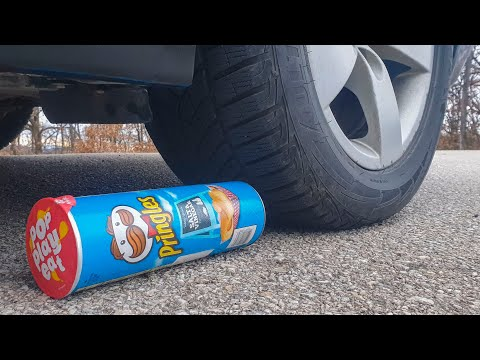 crushing-crunchy-&-soft-things-by-car!-experiment-car-vs-pringles