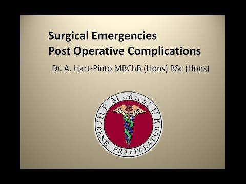 Surgical Emergencies - Post Operative Complications