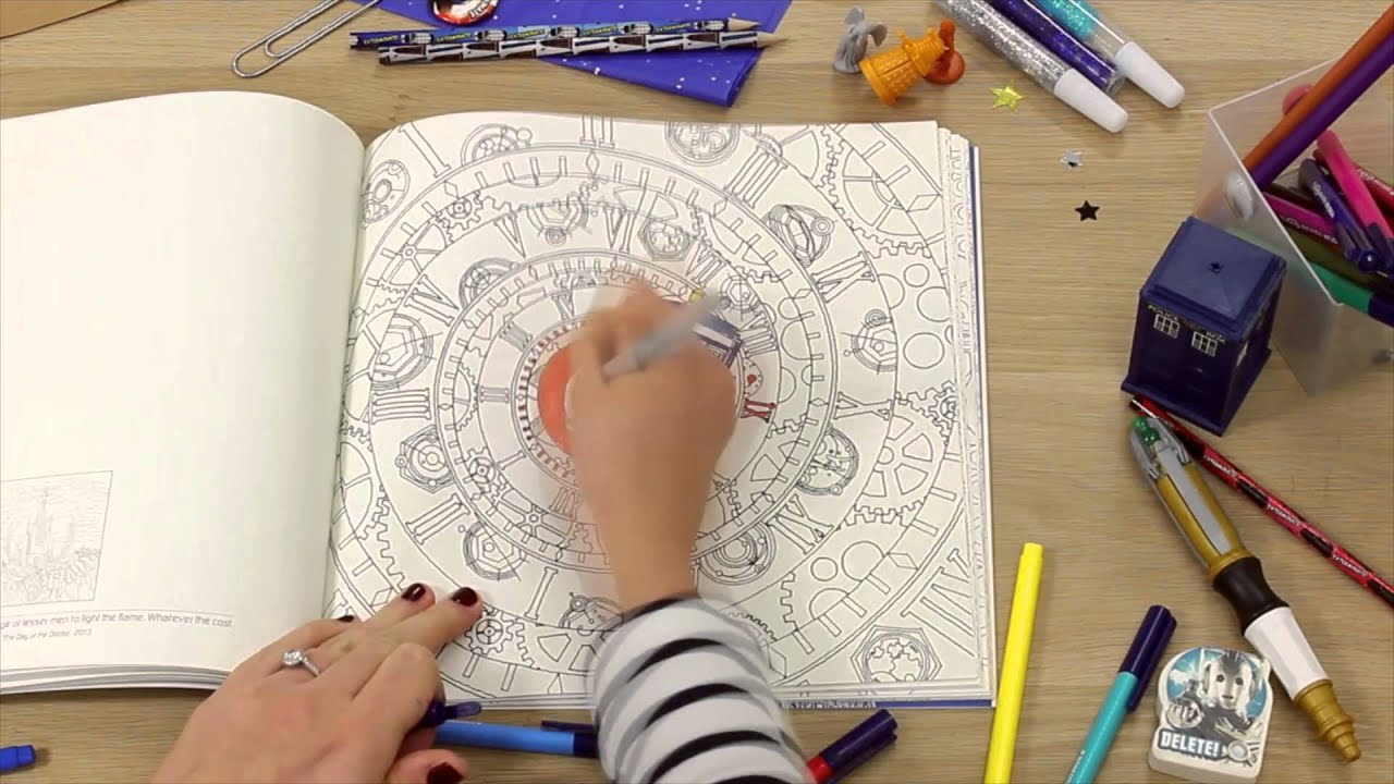 doctor who coloring book youtube - Doctor Who Coloring Book