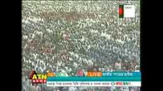 3 million Bangladeshis sing national song. (lakho konthe jatio shongit)