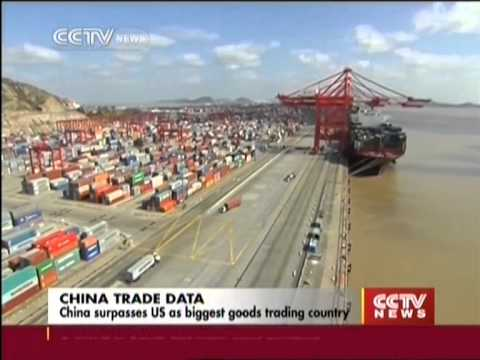 China surpasses US as biggest goods trading country
