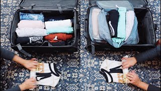 PACKING CUBES vs. No Packing Cubes | Official side-by-side Comparison