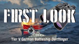 World of Warships - First Look Tier V German Battleship Derfflinger