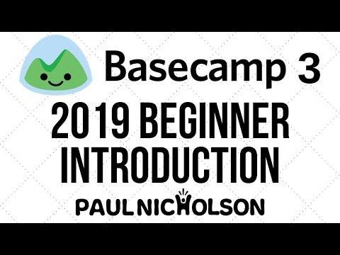 Basecamp 3 Beginner Introduction Tutorial 2019
