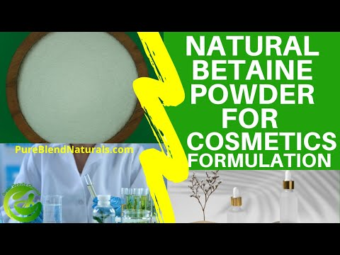 NATURAL BETAINE POWDER FOR COSMETICS FORMULATION: ANTISTATIC CONDITIONING AGENT FOR SKIN & HAIRCARE