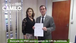 Coronel Camilo assina CPI da merenda