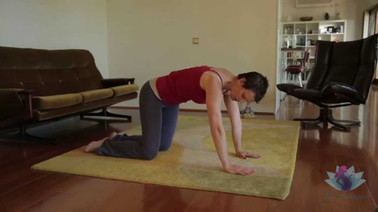 Simple Yoga practices to relieve pelvic and back pain during pregnancy.