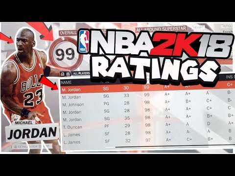 NBA 2k18 OFFICIAL RATINGS! Every Single Player Rating In The Game ft. NEW Legends!