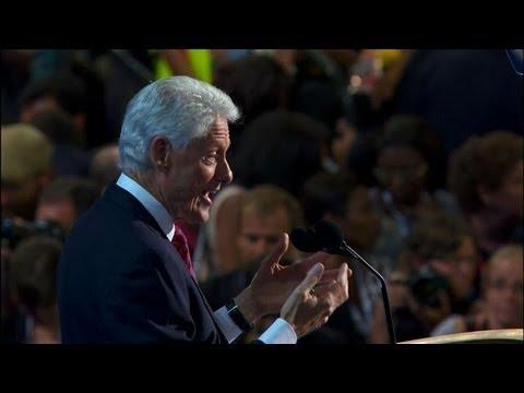 DNC 2012 - Bill Clinton Attacks Republican Platform in Speech