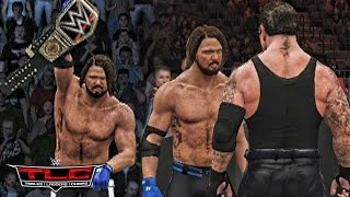 WWE 2K17 TLC 2016 - AJ Styles vs Dean Ambrose & Undertaker Returns Attack AJ Styles