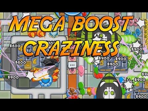 Speedy Mega Boosty CRAZY ZOMG RUSHES - Bloons TD Battles Card Battles