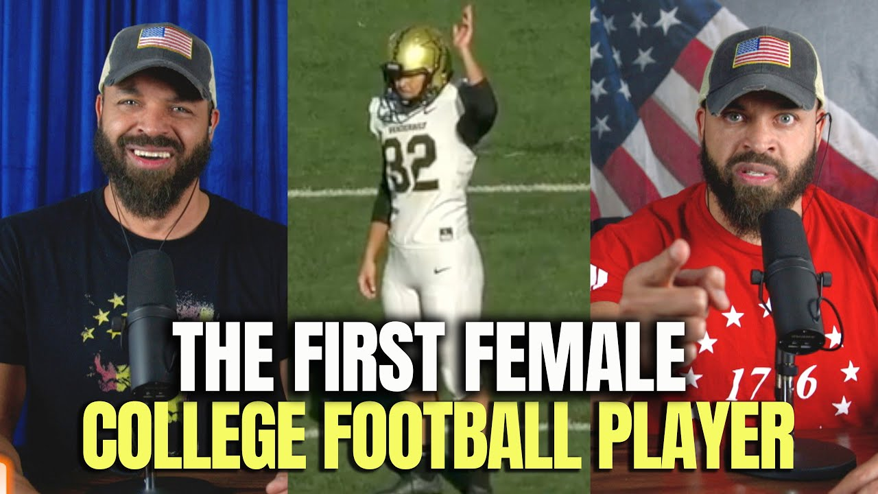 The First Female College Football Player