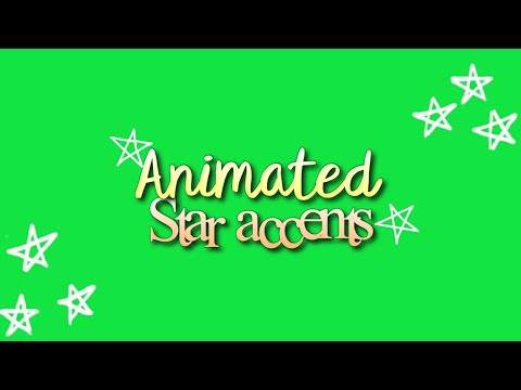 Green Screen Animated Star Accents