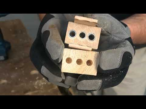 MAKE doweling jig diy & USE to join wooden strips