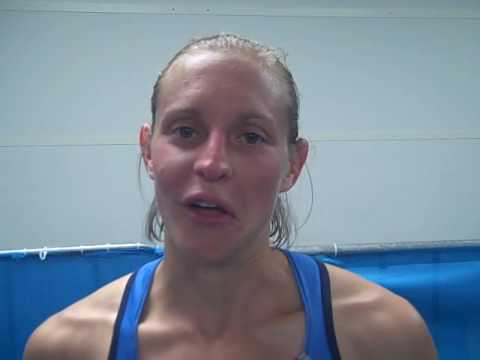 Amy Yoder Begley After Her 6th Place at 2009 World Champs