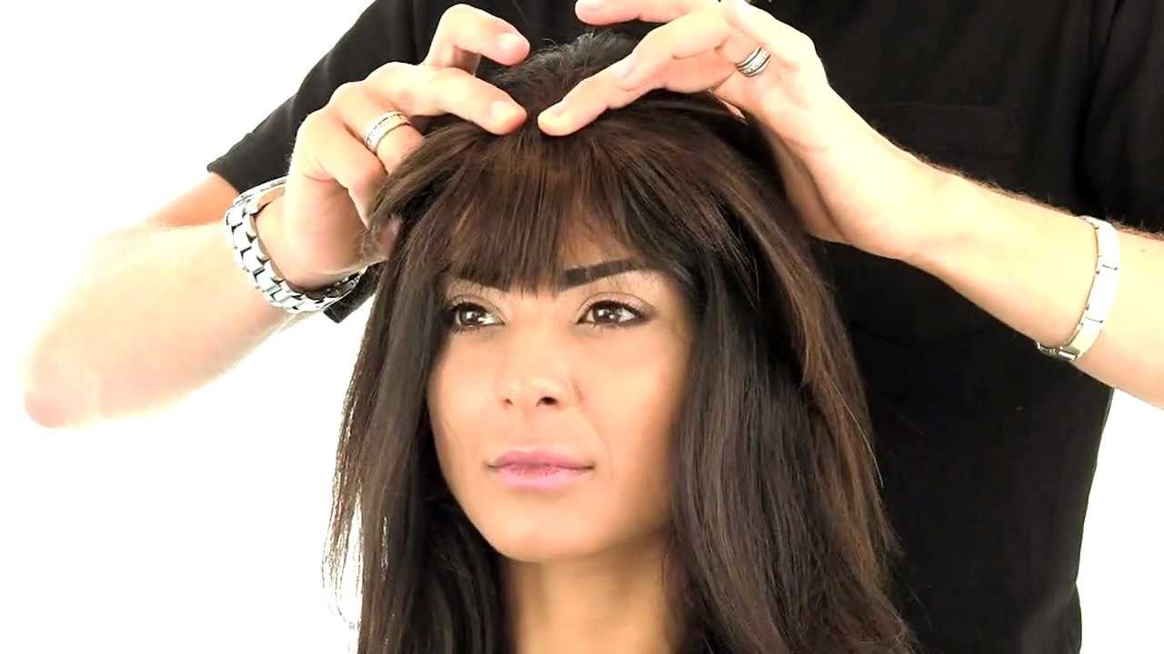How To Do Clip In Bangs On Your Own Hair Youtube