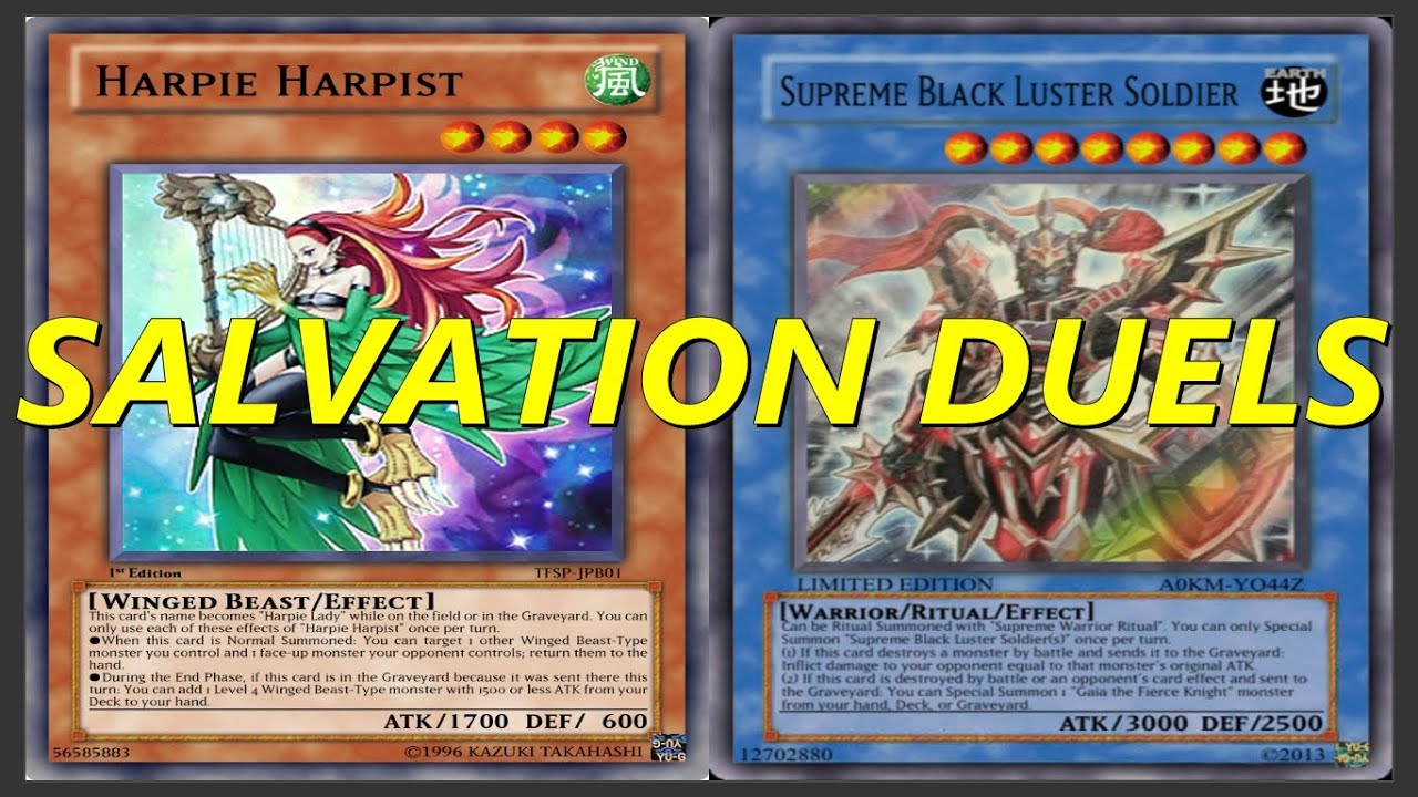 yu gi oh salvation duels harpie lady and supreme black luster