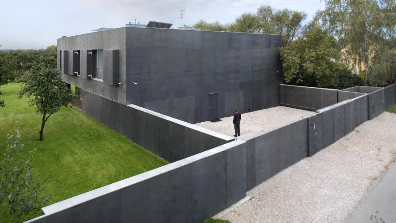 Concrete House Compounds : Safe house robert konieczny kwk promes youtube