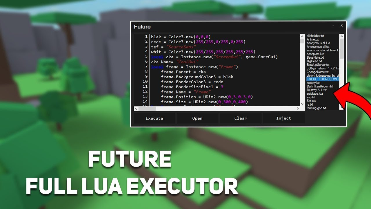 Full Lua Updated Roblox Exploit Future Level 6 Loadstrings W