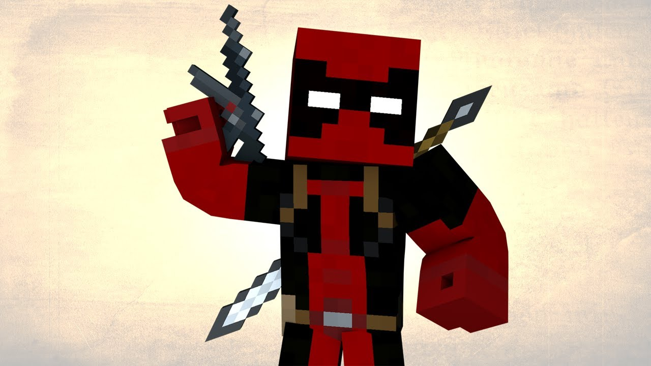 Http 3d Wallpaper Deadpool Minecraft Super Heros Unlimited 1 7 4 Mod