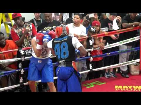 Floyd Mayweather full sparring session in preparation for An