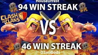 Clash Of Clans - War Attacks 94 Win Streak Vs 46 Win Streak- Town Hall 11 3 Stars