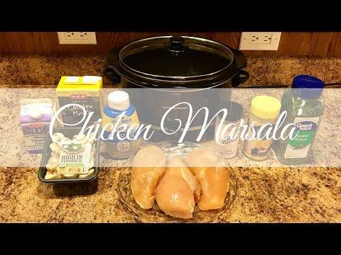 Easy Crockpot Recipe: Chicken Marsala