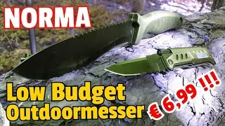 ✔LOW BUDGET OUTDOORMESSER f. 6,99 ab 10.09.2016 by Discounter Norma!