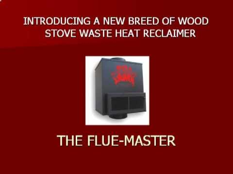 Cut wood use 50% with a Flue-Master Heat Reclaimer - Cut Wood Use 50% With A Flue-Master Heat Reclaimer - YouTube