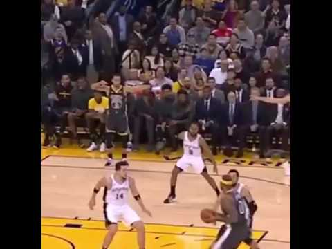 Steph, Klay and KD were all open for a 3. They pointed at each other to take the shot. Couple of unselfish gs.