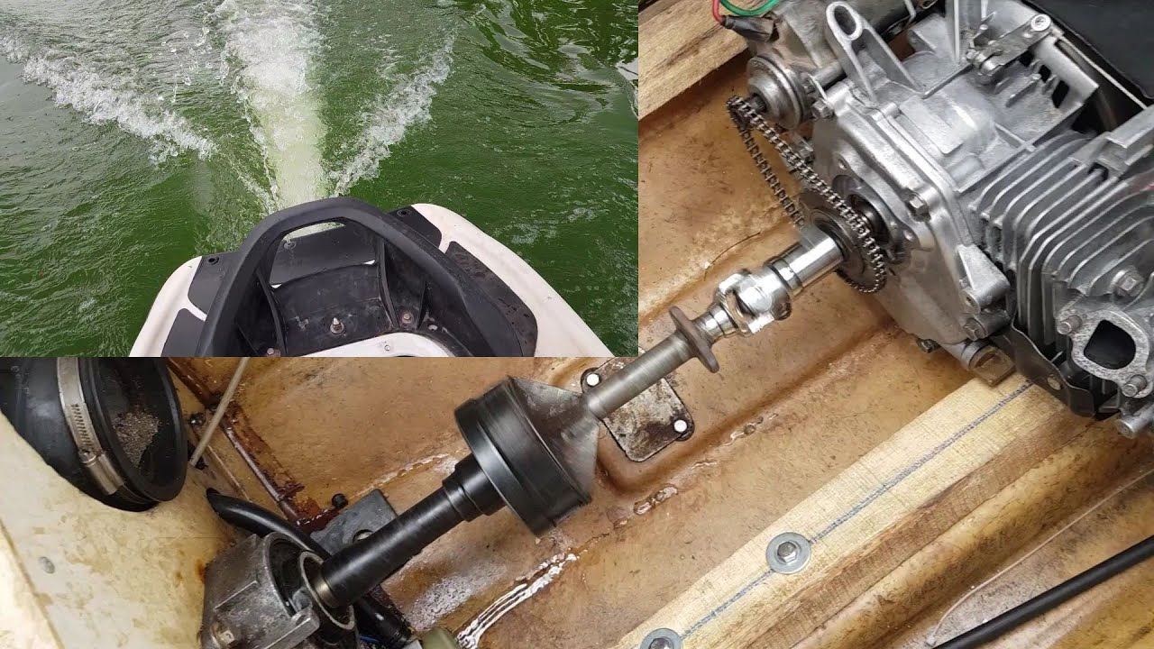 Hướng dẫn chế đề cho máy đuôi tôm rất đơn giản. 6.5HP test chạy moto nước