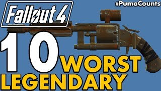 Top 10 Worst Legendary Guns and Weapons in Fallout 4 PumaCounts
