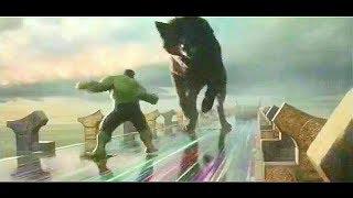 Thor Ragnarok - Hulk Vs Fenrir (wolf) 1/2 in HD