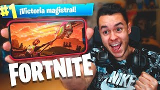 MI PRIMERA VICTORIA de FORTNITE en MOVIL! - TheGrefg