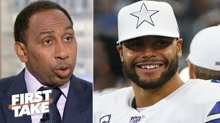 Stephen A. picks Dak Prescott over Carson Wentz | First Take