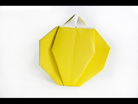 How to make a paper Bell Pepper   origami Vegetables    Easy origami