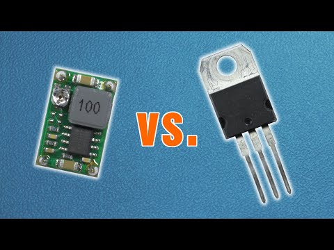 Buck converter vs. linear voltage regulator - practical comparison