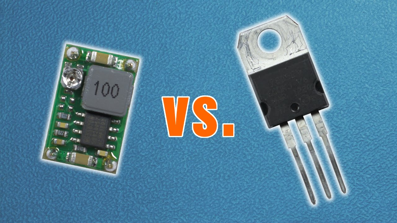 Buck Converter Vs Linear Voltage Regulator Practical Comparison More Circuit About Power Supply Youtube