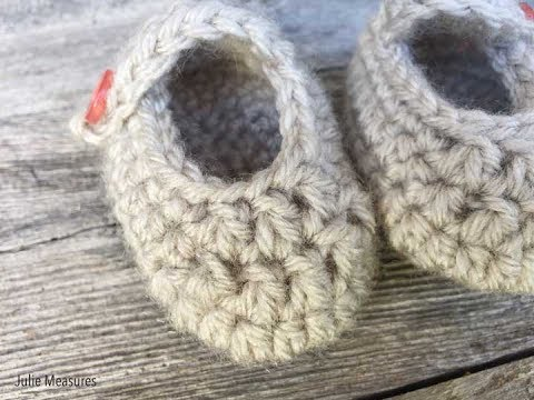 Crochet Baby Booties Free Pattern Youtube