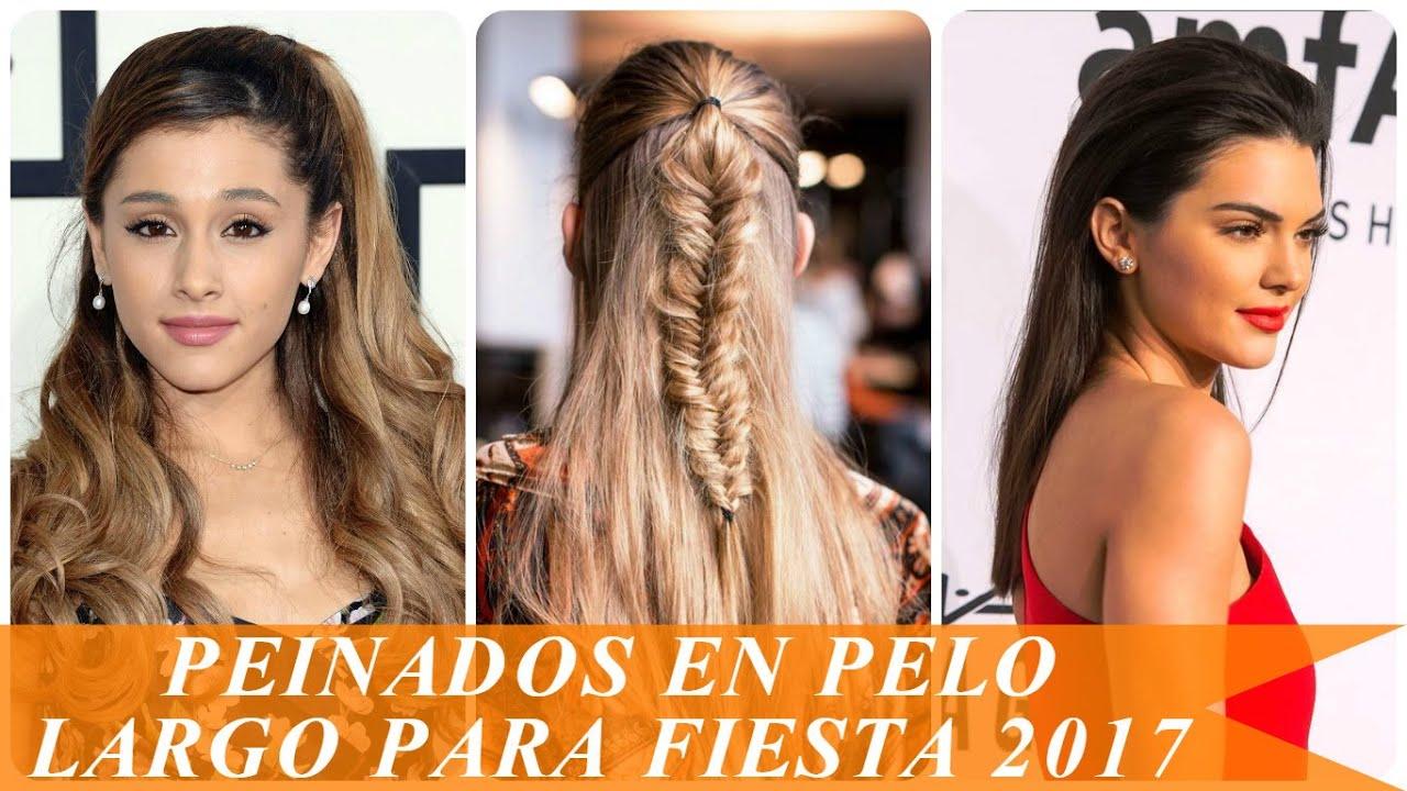 Peinados en pelo largo para fiesta 2017