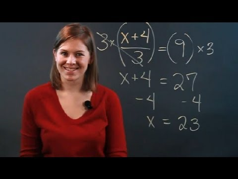 How to Multiply Two Equations by the Denominator : Fractions & Percentages